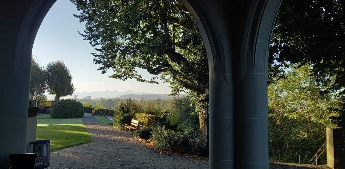 Kirche Morgenstimmung Herbst mj