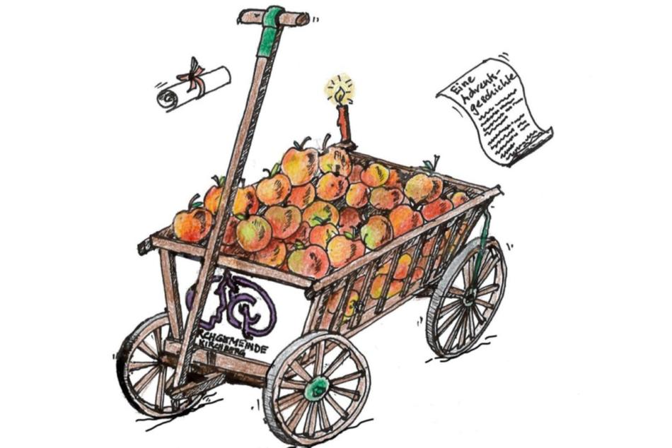 Adventszeit - mit dem Leiterwagen im Dorf